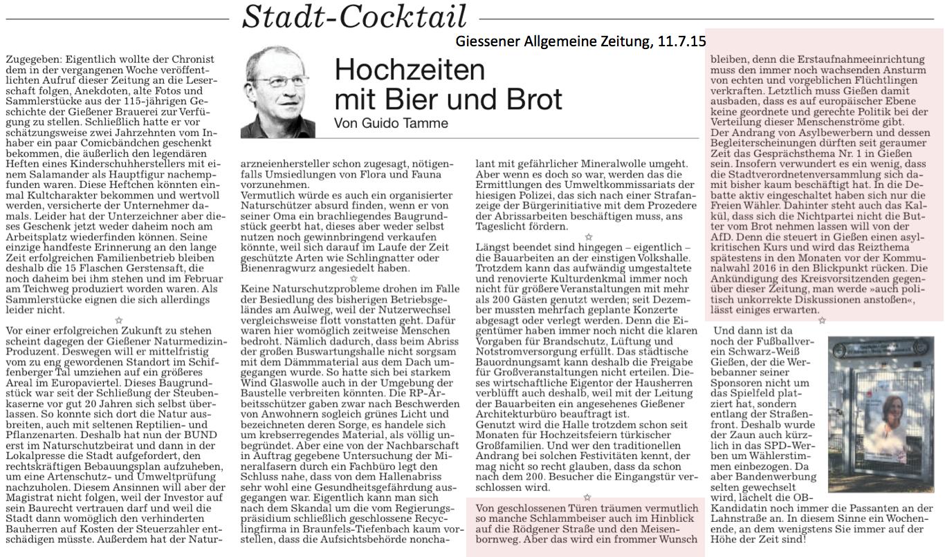 Giessener Allgemeine Zeitung