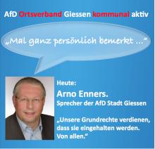 AfD Sprecher Enners persönlich bemerkt